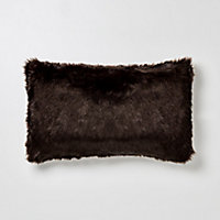Coussin Solitaire marron 30 x 50 cm