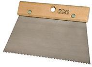 Couteau à colle courbe dents fines 22 cm