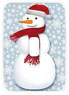 Couvercle en plastique décor bonhomme de neige 32L