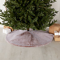 Couvre pied sapin fourrure 1 m
