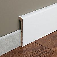 Couvre-plinthe MDF Blanc GoodHome 220 x 13,8 cm Décor 10 (vendue à la pièce)