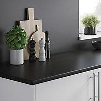 Crédence de cuisine aspect pierre foncée gris l. 200 cm x H. 60 cm x Ep. 8 mm