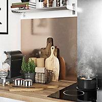 Crédence de cuisine GoodHome Nepeta cuivre et inox l. 200 cm x H. 60 cm x Ep. 3 mm