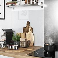 Crédence de cuisine GoodHome Nepeta métro anthracite l. 60 cm x H. 200 cm x Ep. 3 mm