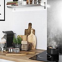 Crédence de cuisine GoodHome Nepeta métro blanc l. 60 cm x H. 200 cm x Ep. 3 mm
