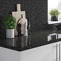 Crédence de cuisine noir et blanc GoodHome Berberis l. 200 cm x H. 60 cm x Ep. 3 mm
