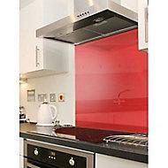 Crédence en verre rouge 60 x 22,5 cm