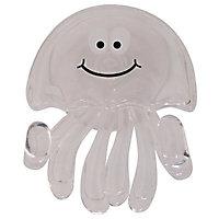 Crochet en plastique transparent à ventouse Medusa