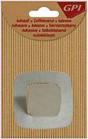 Crochet métal carré moyen modèle coloris gris