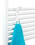 Crochet universel pour radiateur sèche-serviettes Wenko Flexi blanc