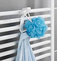 Crochet universel pour radiateur Wenko Flexi blanc