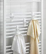 Crochets pour radiateur sèche-serviettes Wenko blanc, 2 pièces