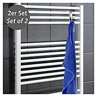 Crochets pour radiateur sèche-serviettes Wenko chromé, 2 pièces