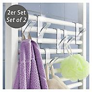 Crochets pour radiateur sèche-serviettes Wenko transparent, 2 pièces