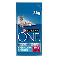 Croquettes pour chat stérilisé One boeuf 3kg