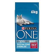 Croquettes pour chat stérilisé One boeuf 6kg