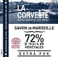 Cube de Savon de Marseille La Corvette Savonnerie du midi extra-pur 500gr