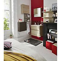 Cube mural de salle de bains avec miroir aspect chêne naturel Cooke & Lewis Calao 50 cm