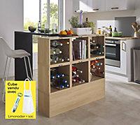 Cube range-bouteilles vide Compactor + Limonadier et sac