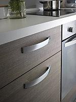 Cuisine complète All In basic décor bois L.250 cm avec électroménager