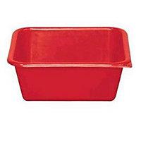 Cuvette carrée rouge 15L
