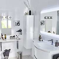 Décor mur blanc brillant 20 x 40 cm Brenta