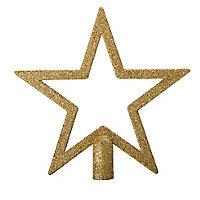 Décoration cimier étoile 20 cm doré