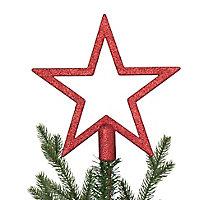 Décoration cimier étoile 20 cm rouge