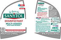 Désinfectant multi-usages eucalyptus Sanytol 0,75L