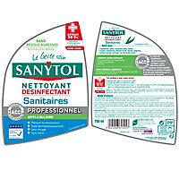 Détartrant désinfectant sanitaires eucalyptus Sanytol 0,75L