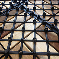 Dalle clipsable acacia Lempa 30 x 30 cm (x 4)