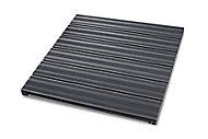 Dalle de terrasse composite anthracite 90 x 90cm, ép.50mm