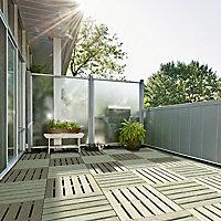 Dalle de terrasse en pin 40 x 40cm, ép.24mm