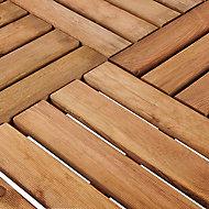 Dalle de terrasse pin marron Blooma Benoue 100 x 100 cm