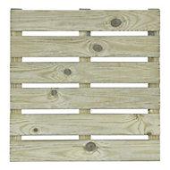 Dalle de terrasse pin vert rainurée 40 x 40 cm