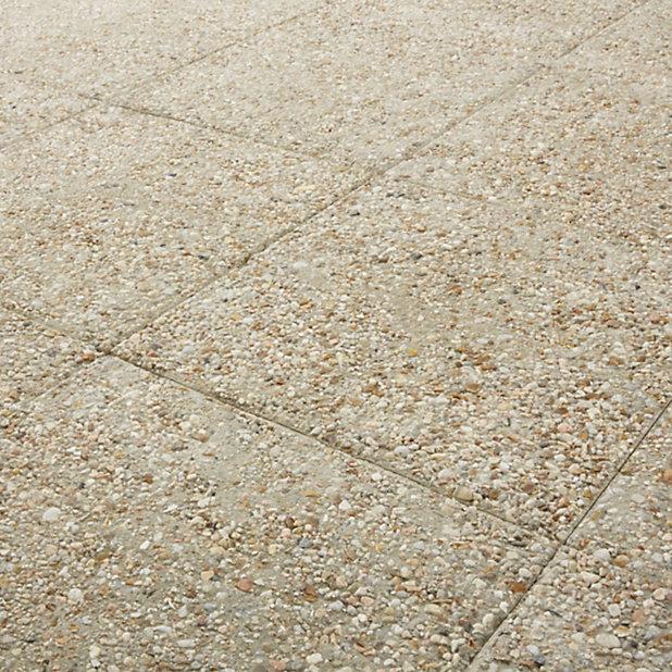 Dalle Gravillons Blanc Jaune 40 X 40 Cm Vendue A La Dalle Castorama