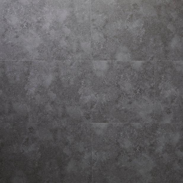 Dalle Pvc Adhesive Gris Fonce Poprock 30 X 60 Cm Vendue Au Carton Castorama