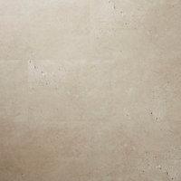 Dalle PVC adhésive pierre beige Poprock 30 x 60 cm (vendue au carton)