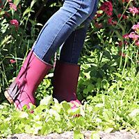 Demi-botte Rouchette Origin aubergine Taille 36