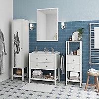 Demi colonne de salle de bains GoodHome Perma blanc H. 120 cm