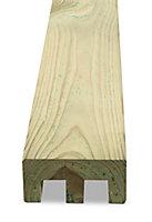 Demi poteau bois Lemhi L.240 cm pour pose double rainure