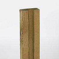 Demi poteau bois Neva simple rainure h.180 cm