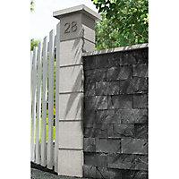 Dessus de muret 2 pentes gris 50 x 20 cm