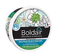 Destructeur d'odeurs Boldair gel thé vert et aloe vera 300g