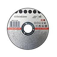 Disque de coupe métal 115x1x22,2mm 5pièces