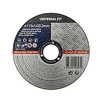Disque de coupe métal 115x1x22,2mm Universel fit