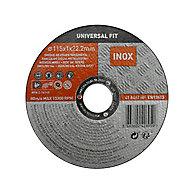 Disque de coupe métal/inox 115x1x22,2mm Universel fit