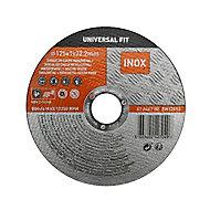 Disque de coupe métal/inox 125x1x22,2mm Universel fit