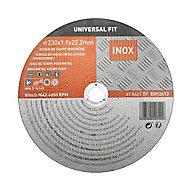 Disque de coupe métal/inox 230x1,9x22,2mm Universel fit