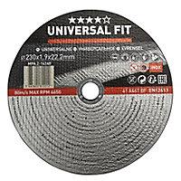 Disque de coupe métal/inox Universel 230x1,9x22,2mm